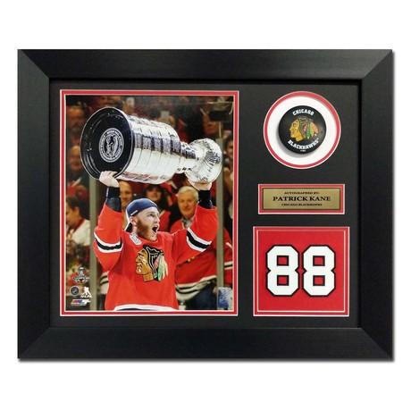 Patrick Kane // Chicago Blackhawks // Autographed Jersey Number Display