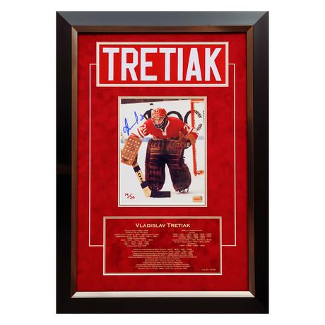 Vladislav Tretiak // Autographed Namebar Display // Limited Edition