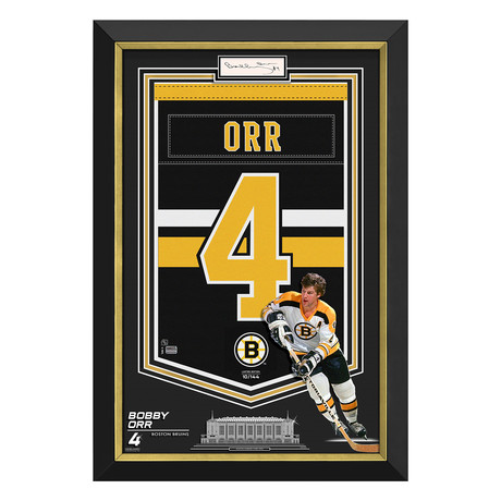 Bobby Orr // Boston Bruins Arena Banner // Limited Edition Autographed Display