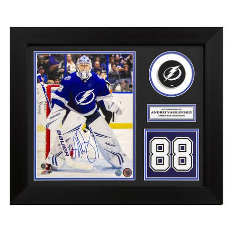 Andrei Vasilevskiy // Tampa Bay Lightning // Autographed Jersey Number Display