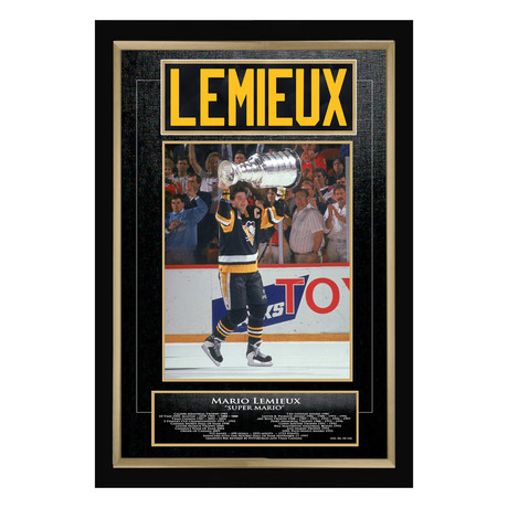 Mario Lemieux // Pittsburgh Penguins // Limited Edition Jersey Namebar Display