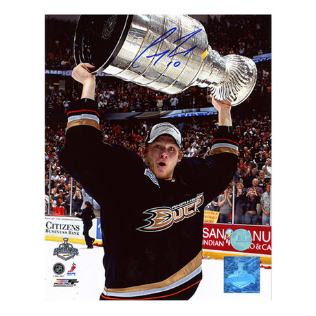 Corey Perry // Anaheim Ducks // Autographed 2007 Stanley Cup Photo