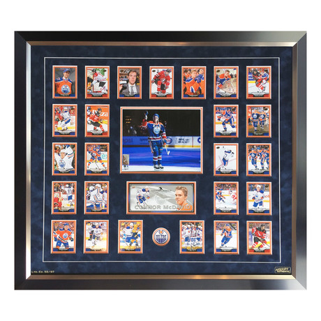The Connor McDavid Collection // Limited Edition Upper Deck Card Set Display