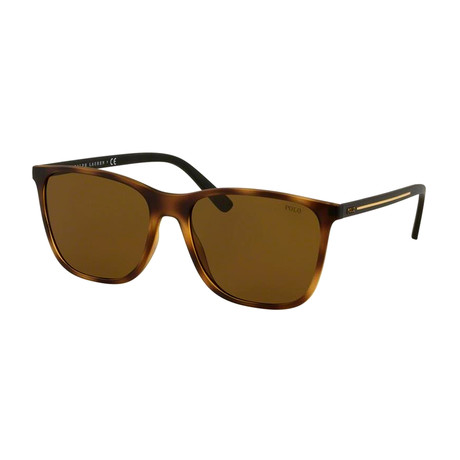 Polo // Men's PH4143-518273 Sunglasses // Matte Havana + Brown