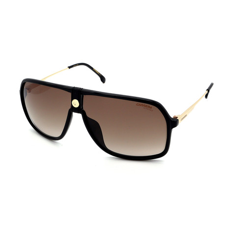 Carrera // Men's 1019S-807 Sunglasses // Black + Gold + Brown
