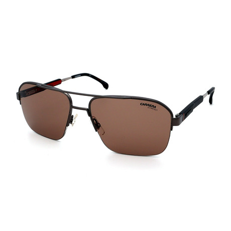 Carrera // Men's 8028S-R80 Sunglasses // Gunmetal + Black + Brown