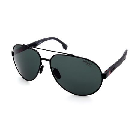 Carrera // Men's 8025S-006W Aviator Sunglasses // Black + Gray