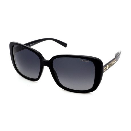 Versace // Women's GV4357-GB1/T3 Polarized Sunglasses // Black + Gray