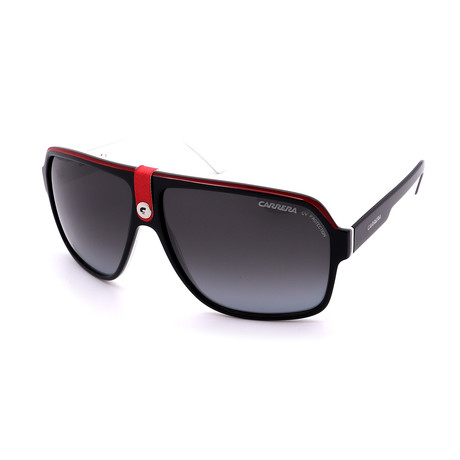 Carrera // Men's 33S-08V4 Logo Sunglasses // Black + White + Red