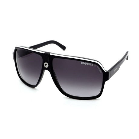 Carrera // Men's 33S-08V6 Sunglasses // Black + White + Gray
