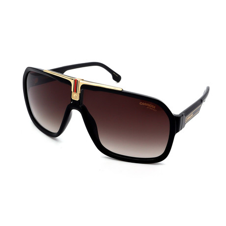 Carrera // Men's 1014S-807 Sunglasses // Black + Gold + Brown