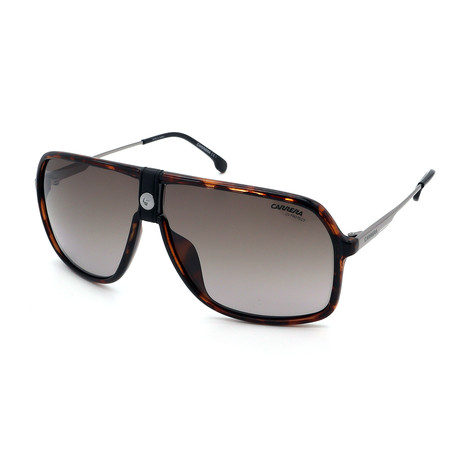 Carrera // Men's 1019S-086 Sunglasses // Havana + Silver + Brown