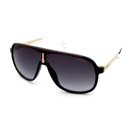 Carrera // Men's 1007S-0807 Sunglasses // Black + Gold + Gray