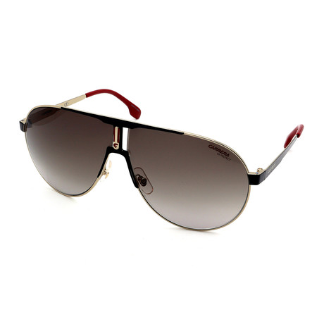 Carrera // Men's 1005S-2M2 Sunglasses // Gold + Black + Red