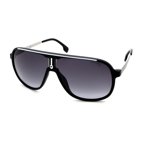 Carrera // Men's 1007S-0003 Sunglasses // Black + White + Gray