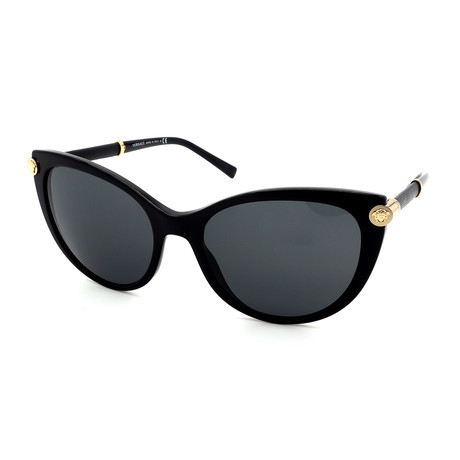 Versace // Women's GV4364Q-GB1/87 Sunglasses // Black + Gray