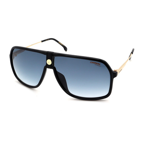 Carrera // Men's 1019S-2M2Sunglasses // Black + Gold + Blue