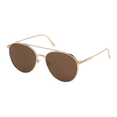 Men's Tomasso Sunglasses // Gold + Brown