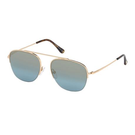 Men's Abott Sunglasses // Gold + Blue