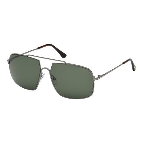 Men's Aiden Sunglasses // Gunmetal + Green