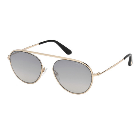 Men's Keith Sunglasses // Rose Gold + Gray Shaded