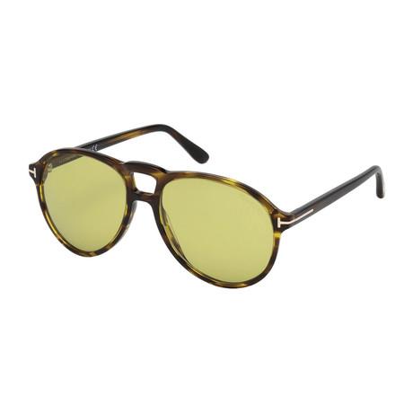 Men's Lennon Sunglasses // Havana + Green