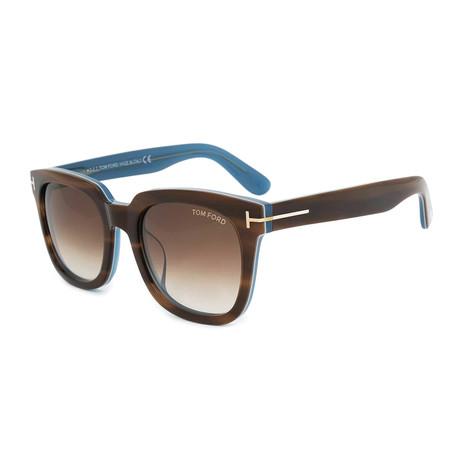 Unisex Sari Sunglasses // Havana + Brown Gradient