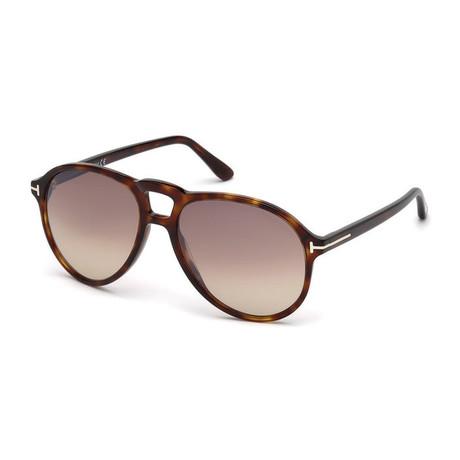 Men's Lennon Sunglasses // Tortoise + Brown Gradient