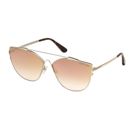 Women's Jacquelyn Sunglasses // Gold + Mirrored Gold Gradient