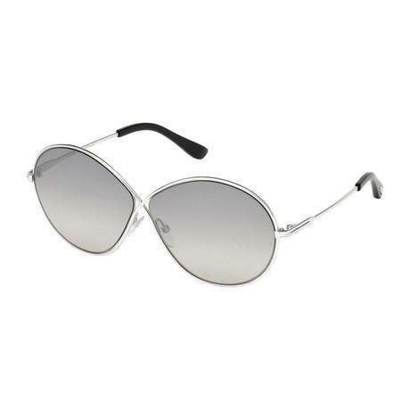 Women's Rania Sunglasses // Silver + Gray Gradient
