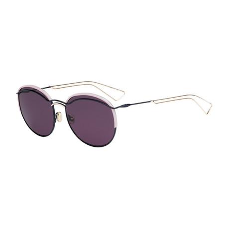 Women's Dioround Sunglasses // Blue + Dark Purple