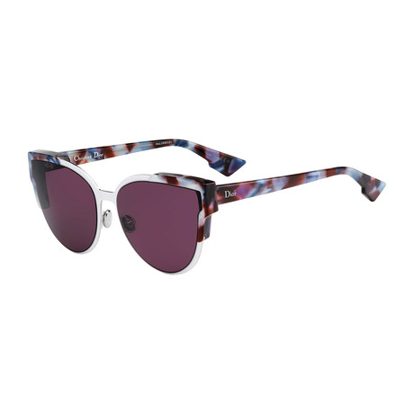 Women's WILDLY-P7J60-KU Sunglasses // Havana + Purple