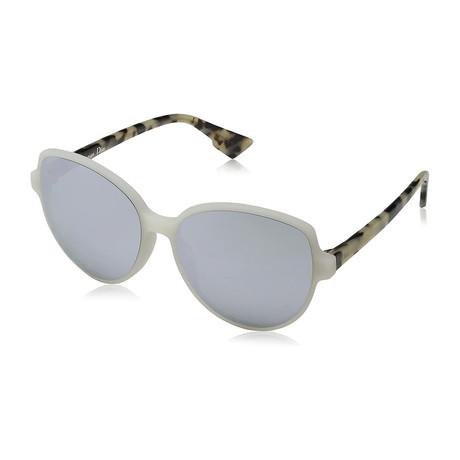 Women's ONDE2-X6158-DC Sunglasses // White + Silver