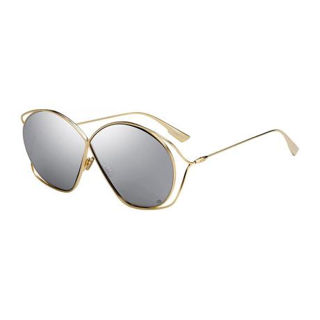 Women's DIORSTELLAIRE2-083I-0T Sunglasses // Gold + Silver + Gray