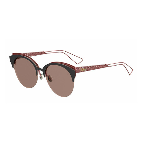 Women's DIORAMACLUB-0EYM-AP Sunglasses // Matte Black + Coral + Gray