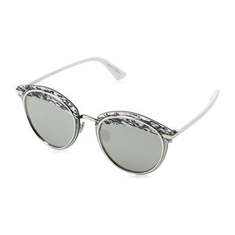 Women's OFFSET1-W6Q62-0T Sunglasses // Gray + Silver