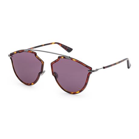 Women's SOREALRISS-0H2H-UR Sunglasses // Yellow Havana + Dark Ruthenium