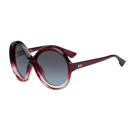 Women's BIANCA-0T558-I7 Sunglasses // Burgundy Pink + Gray Petrol