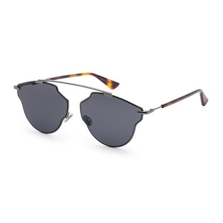 Women's SOREALPOPS-0KJ1-IR Sunglasses // Dark Ruthenium + Gray Blue