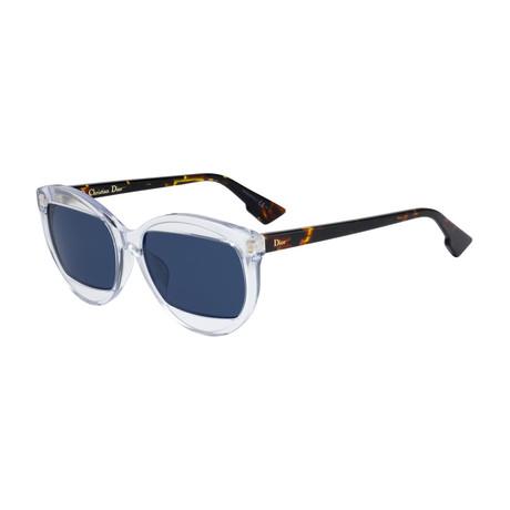 Women's Mania Sunglasses // Khaki Milk Havana + Blue