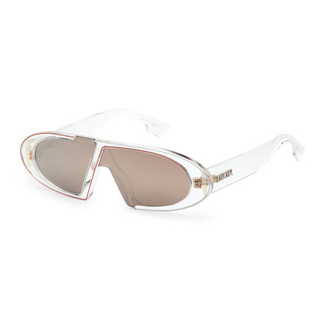 Women's OBLIQUES-900-SQ Sunglasses // Crystal + Gold