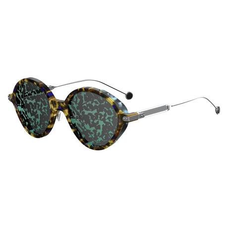 Women's UMBRAGE-0X852-TW Sunglasses // Blue Havana Palladium + Green
