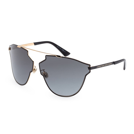 Women's SOREALFASS-0RHL-9O Sunglasses // Gold + Black + Dark Gray