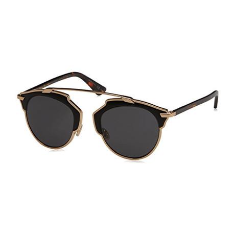 Women's SOREAL-L-P7P48-Y1 Sunglasses // Gold Havana + Gray