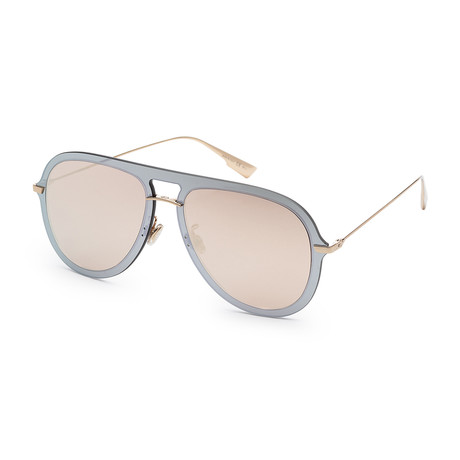 Women's ULTIME1S-0AVB-57A9 Sunglasses // Silver + Pink Gold