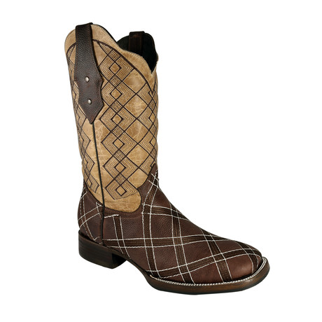Rodeo Square Boot // Brown (US: 7EE)