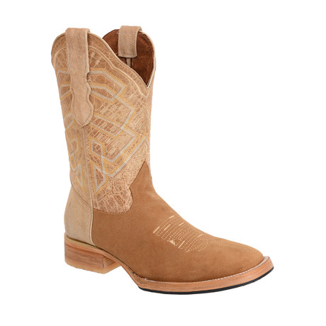 Rodeo Square Boot Nobuck // Gold (US: 7EE)