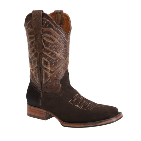 Rodeo Square Boot Nobuck // Brown (US: 7EE)