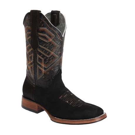 Rodeo Square Boot Nobuck // Black (US: 7EE)