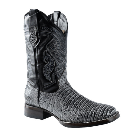 Rodeo Square Boot Armadillo Print // Black (US: 7EE)